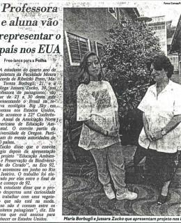 Moura Lacerda representando o país em evento internacional, após a histórica ECO 92